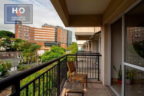 Imagem 1 de 16 de Cobertura Com 1 Dormitório, 110 M² - Venda Ou Aluguel - Jardim Leonor - São Paulo/sp - Co0087