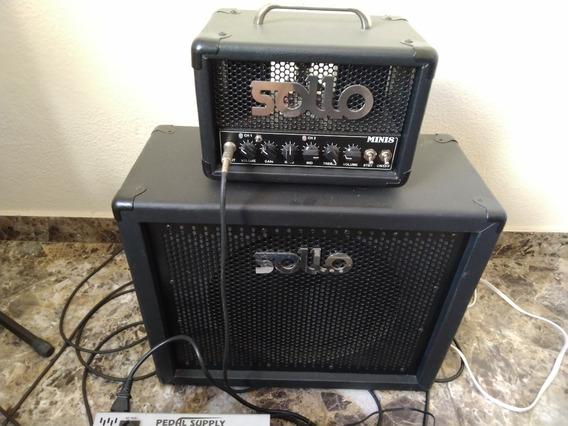Amplificador Valvulado Mini 8 + Box Sollo 1x12
