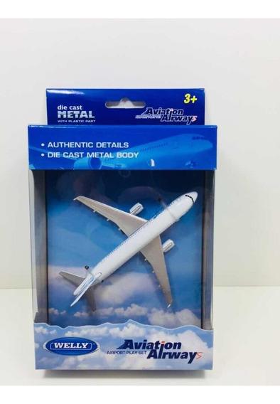 Miniatura Avião Comercial Boeing Airways Metal Welly