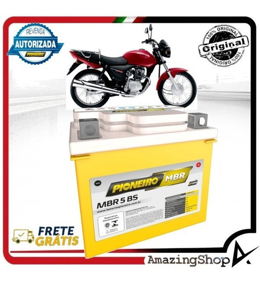 Bateria De Moto Honda Cg150 Titan Job 04/-- Mbr-5bs Pioneiro