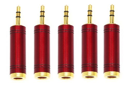 Imagem 1 de 5 de Kit 5 Plug Adaptador Star Cable J10st X P2 Stereo C/ Trava