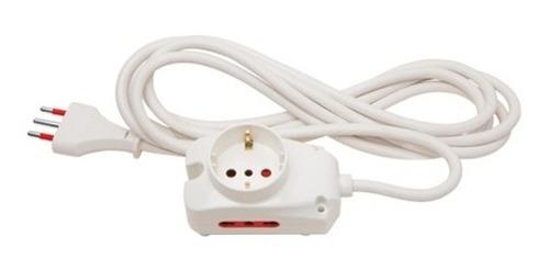 Imagen 1 de 6 de Alargue Zapatilla Con Cable De 1 Schuko + 2 Tomas 3 En Linea