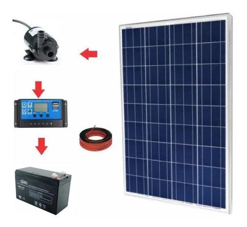 Imagen 1 de 1 de Kit Bomba Agua Solar Altura 2.3 Metros 4.800 Litros Cada Día