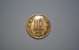 Moneda 10 Pesos Libertad Con Ángel 1981