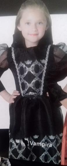Disfraz Elegante Halloween Muertos Vampira Bruja Niña