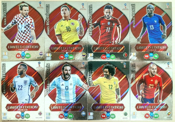 Set Completo 8 Cards Limited Edition Premium Xl Copa 2018