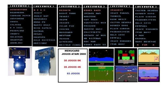 Atari 2600 - Menucard 63 Jogos ( 35 8k - 28 4k )