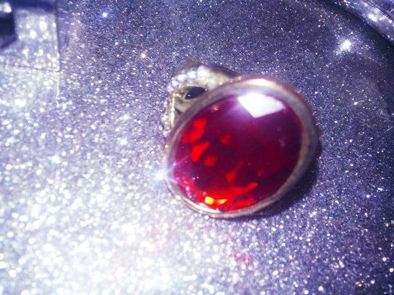 Anel Com Pedra Vermelha