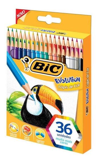 Lápis De Cor Bic Evolution 36 Cores Sextavado 930230 25164