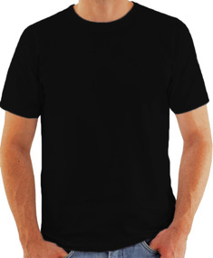 Camiseta Preta Sublimação Atacado 100% Poliéster Kit Com 20