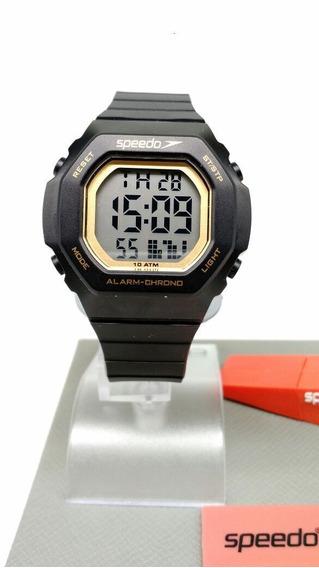 Relógio Speedo Preto Com Dourado Feminino 80615l0evnp1