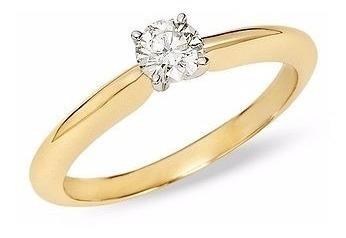 Anillo De Compromiso Diamante .20ct 14k Natural Certificado