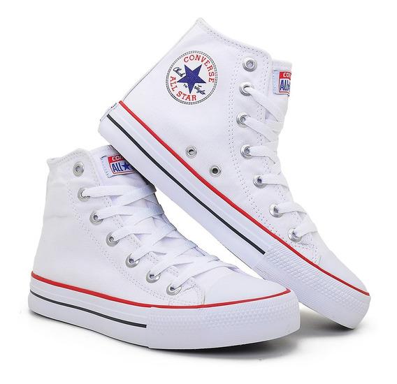 All Star Cano Alto Tenis Longo Branco Vermelho Preto Barato*