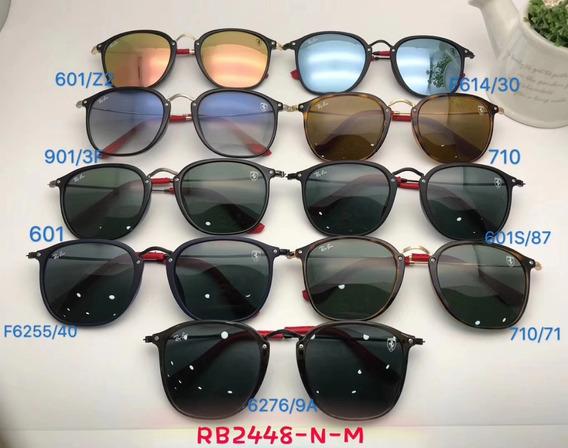 Oculos De Sol Masculino Scuderia Ray Ban Ferrari Rb2448 Roun