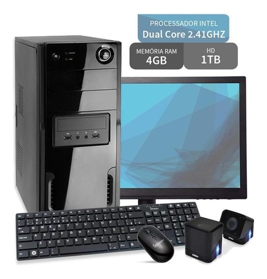 Pc Barato E Simples Hd 1 Tb 4gb 2.41 Ghz Win 10 + Acessórios