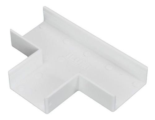 Imagem 1 de 3 de 10 Peças Tipo T Acabamento P/ Canaleta Branco 10x20mm Ilumi