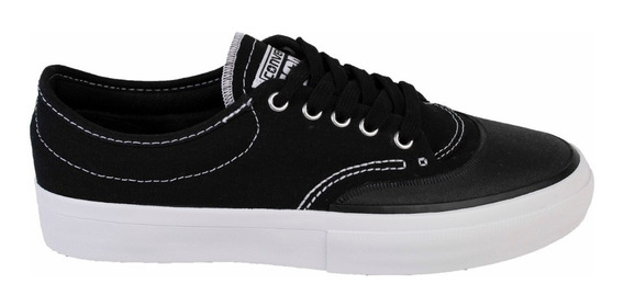 Zapatillas Converse Crimson Canvas Ox Negra Y Azul