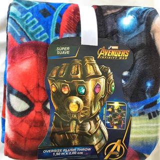 Cobertor Marvel Avengers Super Suave Estampado Digital Promo