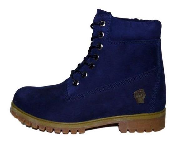 Bota Slum Brand Gold Royal Azul