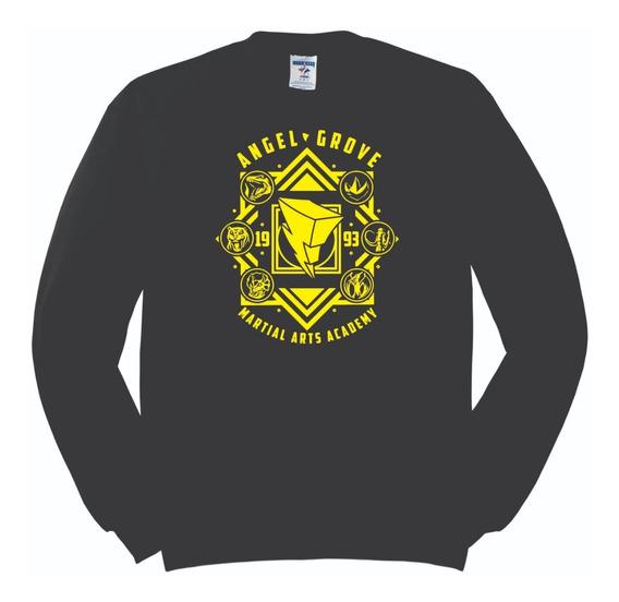 Sudadera Power Rangers Angel Grove Academy Logo Escudos
