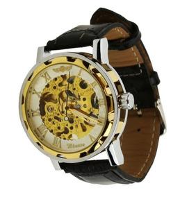Relógio Masculino Automático Oferta Couro+brinde C.105