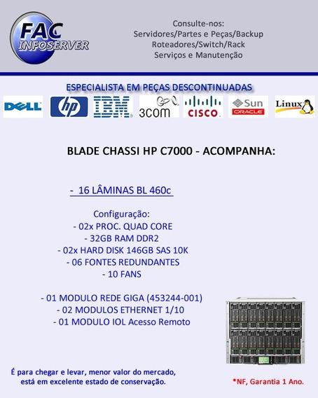 Enclosure Hp C7000 - Blade - Virtualização/cluster C/ 16 Lâm