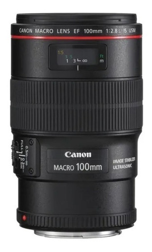 Imagem 1 de 6 de Lente Canon Ef 100mm F/2.8l Macro Is Usm Pronta Entrega
