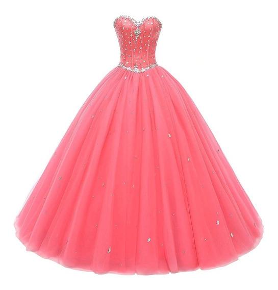 Hermoso Vestido Rosa Xv Años Rosita Rosa Barato Exclusivo
