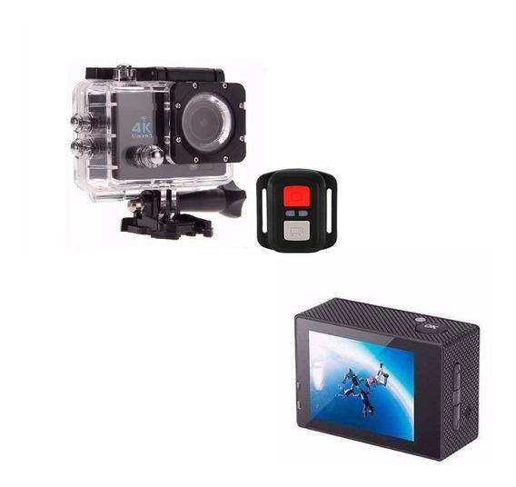 Mini Câmera Sport 4k Prova D´água Action Com Controle Remoto