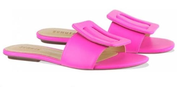 Rasteira Flat Fivela Neon Schutz - Pink