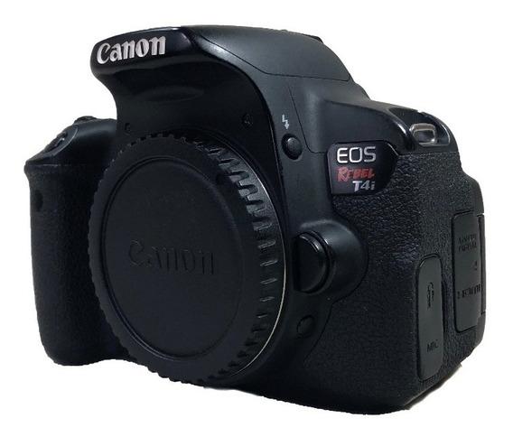 Câmera Canon T4i Corpo Seminova Conservada Ótimo Estado