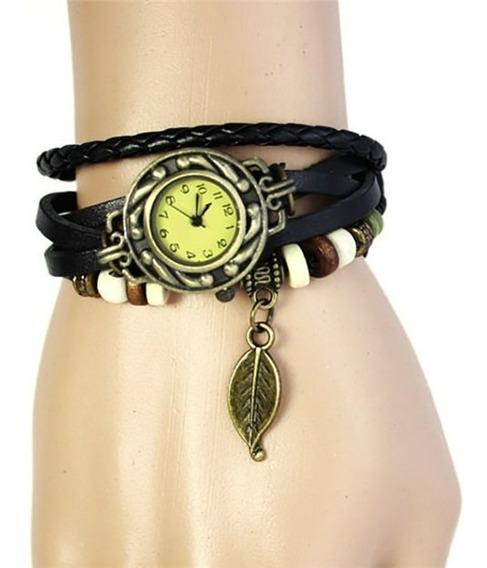 Relógio Feminino Pulseira Vintage Retrô Lindo Estilo Hippie