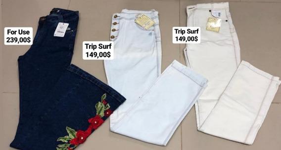 3 Calças Jeans Modeladora Turbina Bumbum Afina Cintura Trip Surf