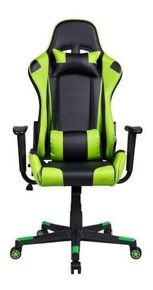 Cadeira de escritório Pelegrin 3012 jogador ergonômica preta/verde
