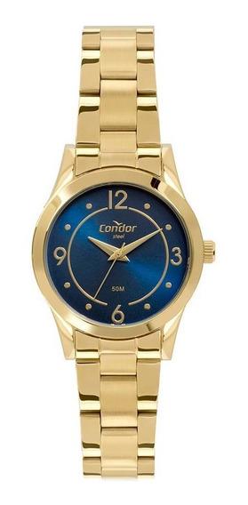 Relógio Feminino Condor Aço Dourado - Original
