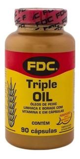 Triple Oil Fdc Ômega 3 6 9 Importado 90 C Linhaça Borragem