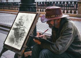 Sou Artista, Trabalho Com,cartao De Visita ,desenho Colorido