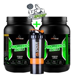 2 Proteína De Soya Orofino + Shaker 3 En 1 - Envió Gratis