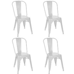 Kit 4 Cadeiras Tolix Branca