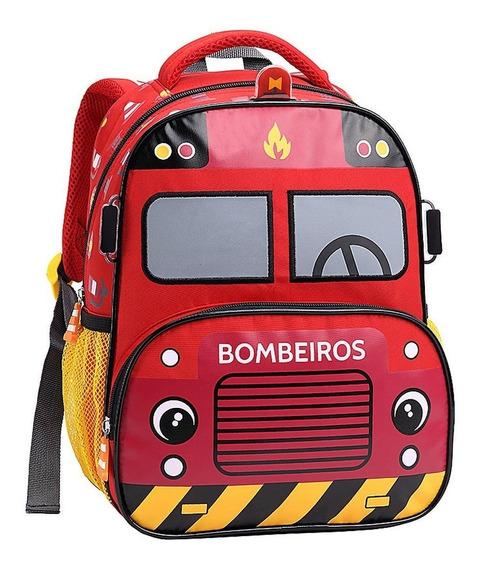 Muchilasl Infantil Escola Taxi Amarelo Criança Novo Original