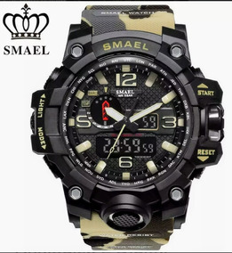 Relógio Masculino Militar Camuflado Smael