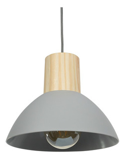 Lampara Colgante Decorativa Poliprop Opaco Madera Prestigio