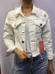 Kit3jaqueta Jeans Feminina Rascada Moda Bege Craro Branca