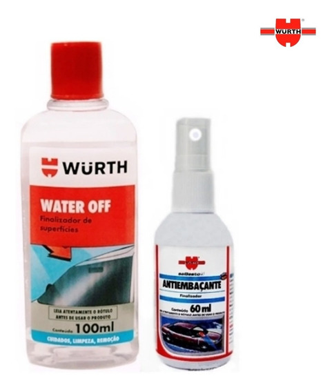 Water Off Cristalizador + Anti Embaçante Wurth Vidro Espelho