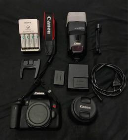 Câmera Cânon T61 + Flash + Carregadores E Baterias