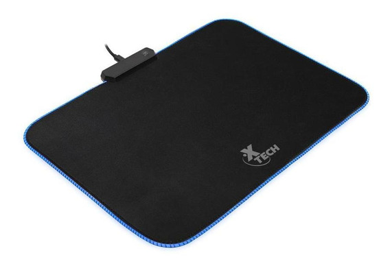 Mouse Pad Gamer Xtech Tela Rgb 7col Negro Xta-200