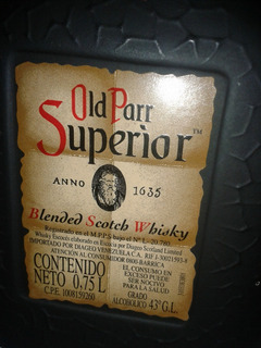 Whisky Old Parr Superior
