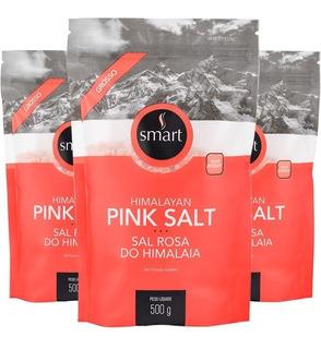 Kit 3 Sal Rosa Do Himalaia Grosso 500g - Smart Temperos