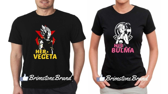 Playeras Para Pareja Novios Dragon Ball Vegeta Bulma