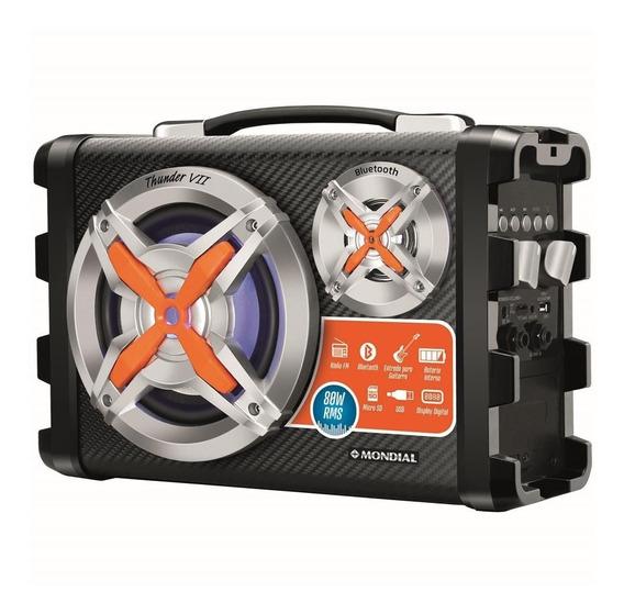 Caixa Amplificada Mondial Bluetooth Thunder Vii Mco-07 80w